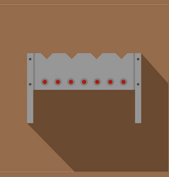 Steel brazier icon flat style vector