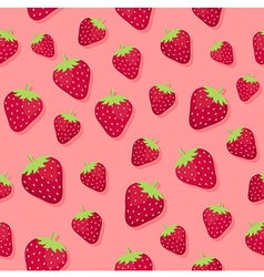 Strawberry Seamless Pattern Pink2 vector image