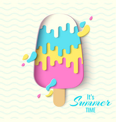 summer time template banner vector image
