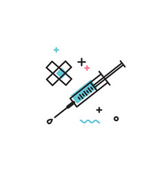 syringe and patch icon vector image