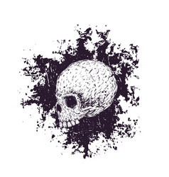 t-shirt print with skull vector image