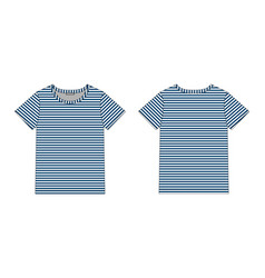 technical sketch women t shirt in blue stripes vector image