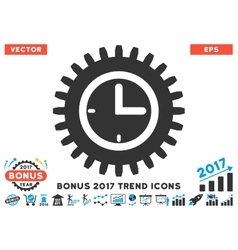 Time Options Flat Icon With 2017 Bonus Trend vector