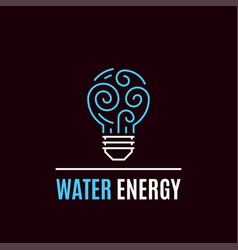 water energy logo template flat style icon design vector image