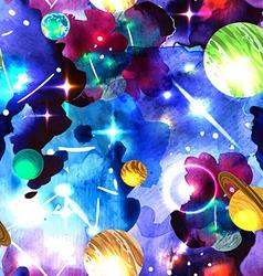 watercolor space vector image