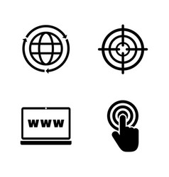 Web search simple related icons vector