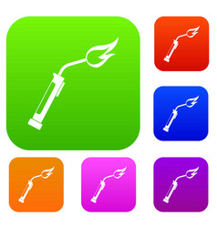 welding torch set color collection vector image
