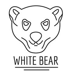 white bears logo outline style vector image