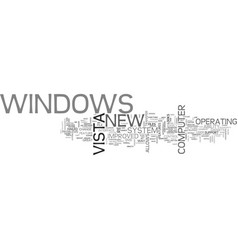 windows vista text word cloud concept vector image