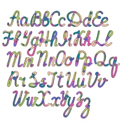 Written alphabet vector image