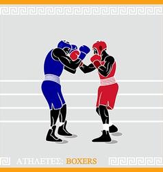Athlete boxers vector image