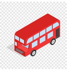 english red bus isometric icon vector image