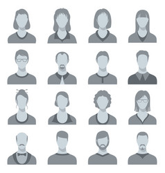 female and male head silhouettes user vector image vector image