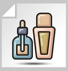 icons of beauty cosmetics 19 vector image
