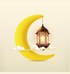 ramadan kareem 3d icon vector image vector image