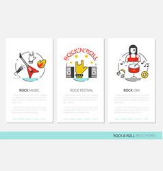 rocknroll business brochure template vector image