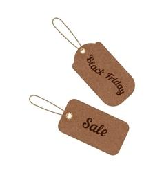 vintage sale tags from grunge cardboard vector image