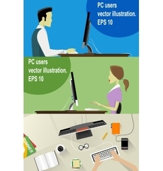 Workplace Concept Flat vector image