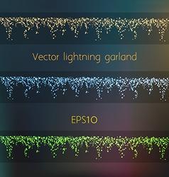014 lightning garland vector image