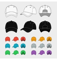 Baseball cap template vector image vector image
