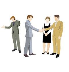 office negotiations vector image vector image