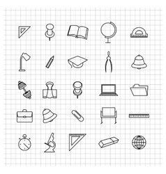 School set of icons vector image vector image