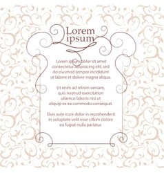 Border and classic pattern Template for greeting vector image vector image
