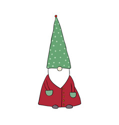 cute cartoon gnome funny elves vector image vector image