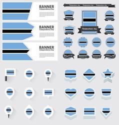 SET botswana vector image vector image