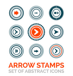 set of arrow stamps vector image vector image