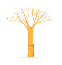 tree hug concept of green nature love vector image