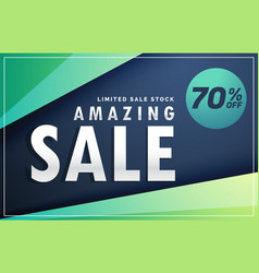 amazing sale banner discount voucher design vector image
