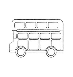 bus double deck icon image vector image