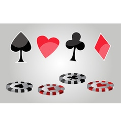 Casino symbols vector image vector image