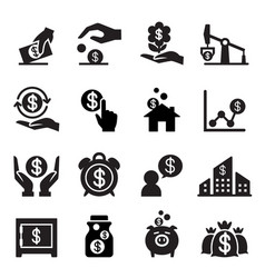 Saving money icon vector