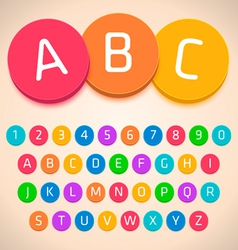 3D Colorful Alphabet vector