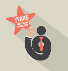 9th Years Anniversary Typography Design vector