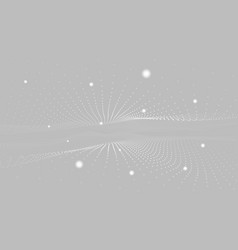 abstract 3d particle wave mesh i vector image