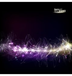 Abstract sparkle line vector image