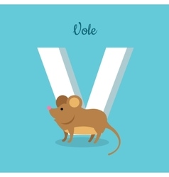 Animal Alphabet Concept in Flat Design vector