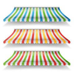 Awnings set different forms for market vector