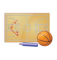 Basketball play board vector image