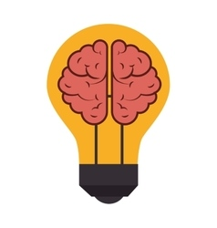 Bulb brain light idea creative design vector