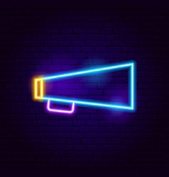 Bullhorn neon sign vector