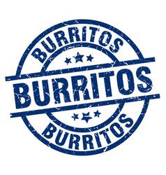 Burritos blue round grunge stamp vector