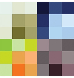 Checkered pattern four color options vector