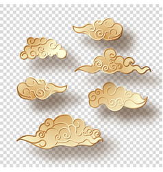 chinese style clouds vector image