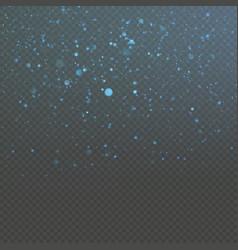 Christmas blue bokeh snowfkakes overlay effect on vector