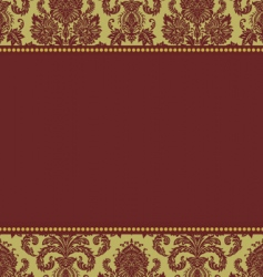 Christmas damask pattern vector