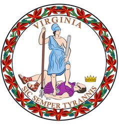 Coat arms virginia state usa vector